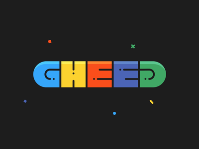 GHEED Logo Animation branding funny happy colorful colorful logo contest raffle giveaway streamer streaming youtube influencer esports gaming twitch logo animation logo design gheed logotype logo