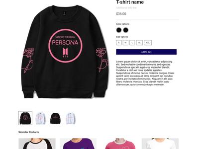 Online Tee shirt retailer- Template