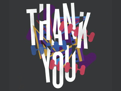 Thank You Lettering illustration african hip hop grateful thank you lettering