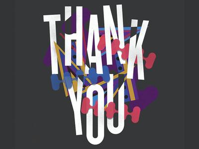 Thank You Lettering illustration african hip hop grateful thank you lettering