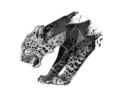 Panther Drawing panther geometric sketch pencil drawing