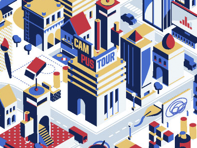 Adobe #Makeityourcity collaboration isometric
