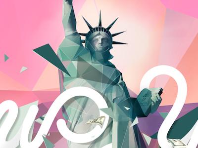 City Love polygons triangles new york