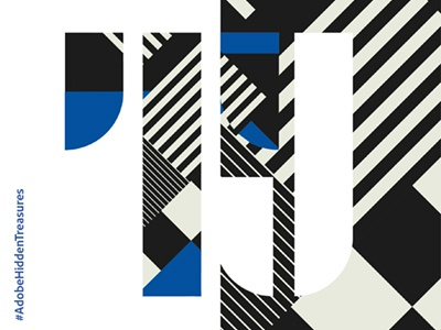 Initial Poster Artwork  #Adobehiddentreasures bauhaus typography adobe