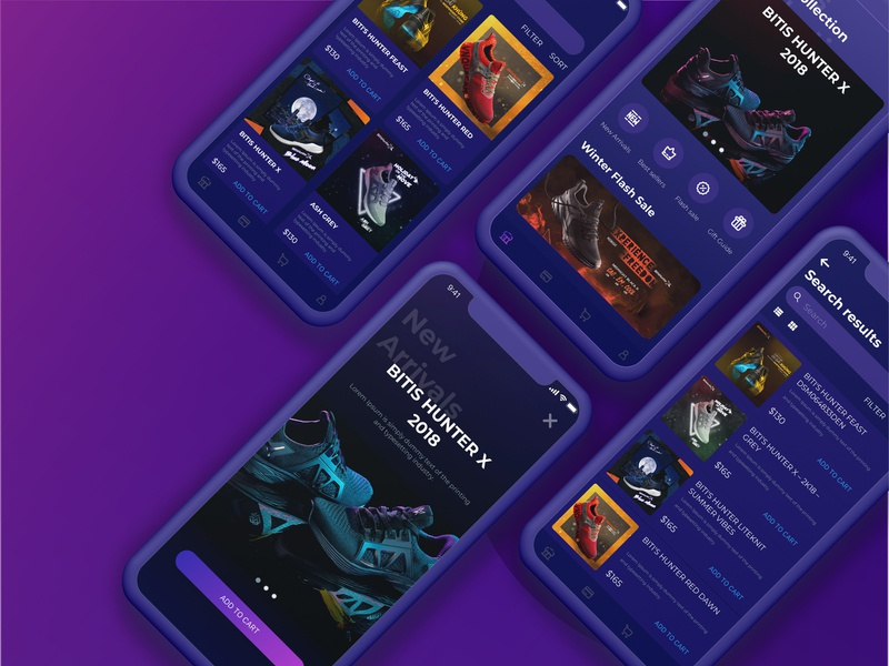 Bitis Hunter - Concept App app designer product app design ux-ui ui illustraion app branding logo design