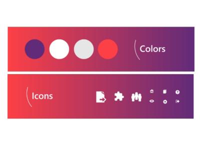Konaki - Colors and icons webdesigner interface designer user experience creative branding app design design inspiration logo userinterface uiux illustration ux design web design ux uidesign design ui graphic design behance dribbble