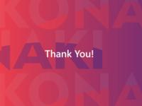 Konaki - thank you.