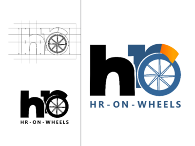 HR-on-Wheels branding logo design typography