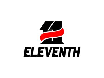Eleventh typography eleventh vector illustration brand shoe logo