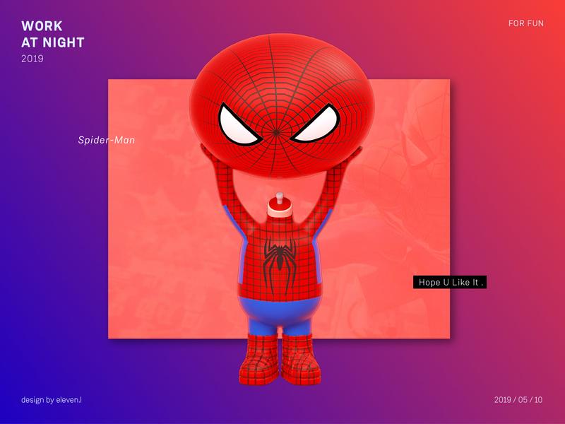 Spider Man cartoon illustration design cinema 4d 3d