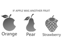 If Apple Was Another Fruit - Inspiration Design