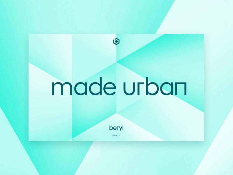 Beryl - Made urban visual identity system designsystem brand design visualidentity branding design identity