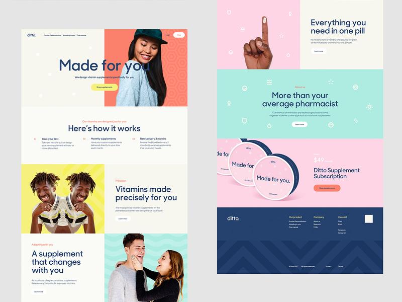 Ditto - Web design interaction product logo branding web app website identity ui interface