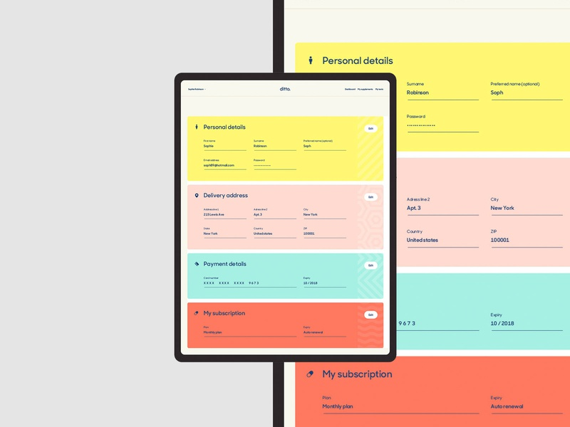 Ditto - Product design design interface typography ui product logo branding web identity website