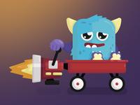 Rocket Wagon Monster