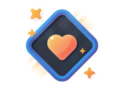 Hearty Hearts apple watch plaid flat shiney blorange icon watch stars heart