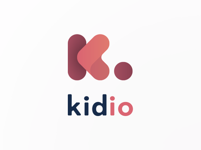 Kidio Taco company logo gradient logo pink icon designer logo designer icon digital product mark brand logo single letter logo the letter k