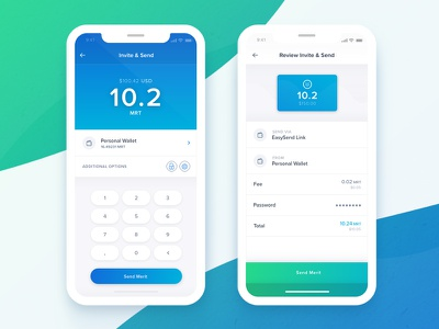 Crypto Send wallet statistics payment iphone x finance data coin card crypto cryptocurrency currency app