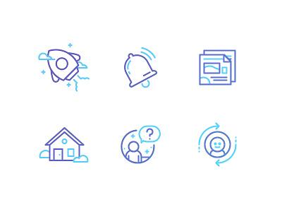 School Navigation Icons launch zaxbys user switch faq home news notification startup bell rocket