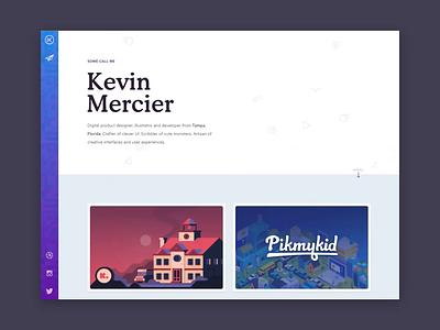 New Website, New Me -- Kevin Mercier Website Animations grid homepage personal case study video landing gradient tampa bay ux ui portfolio animation