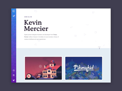 New Website, New Me -- Kevin Mercier Website Animations
