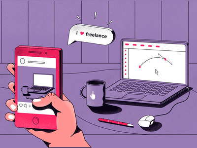 Freelance vector illustration flat design app