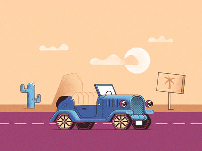 Travel animation vector illustration flat design