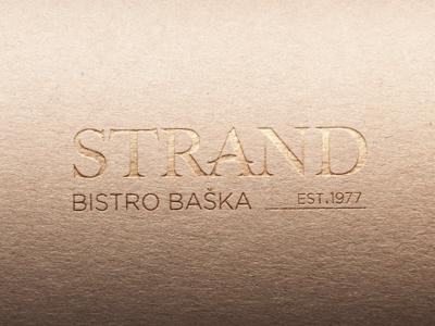 Strand restaurant // Logo design