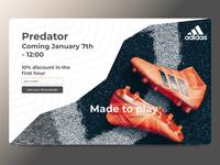 DailyUI #48 Coming Soon - Adidas Shoes