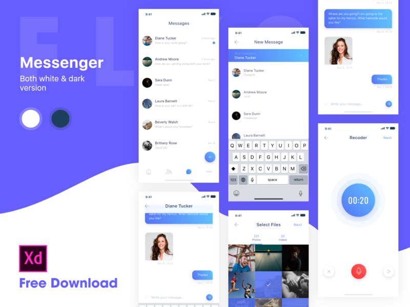 Messenger for iOS - White theme