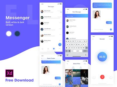 Messenger for iOS - White theme free download vietnam coin bitcoin music chart theme invite dark theme chat uiux dribbble invite creative message messenger