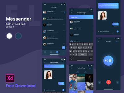 Messenger for iOS - Dark theme free download vietnam icon ios illustration hiring me fly9 messenger message creative dribbble invite uiux chat dark theme invite theme chart music bitcoin coin