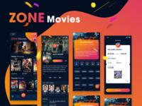 ZONE Movies - Dark mode - iOS UI KIT