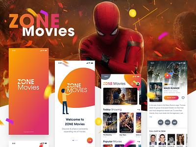 NEW - ZONE Movies - Light mode - iOS UI KIT chat creative message android dribbble invite vietnam film dark theme music hiring me chart bitcoin messenger invite free download uiux movies