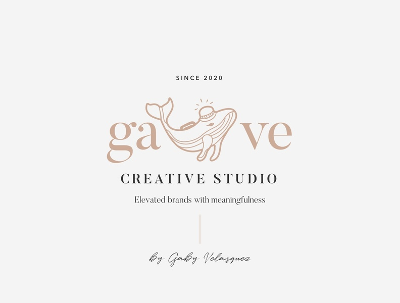 Gave Creative Studio 2 meaningful studio elevate elegant typography branding vector logo brand illustration design