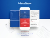 Industrial Layout Web Design