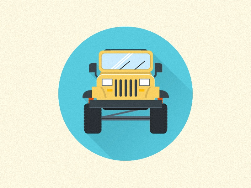 jeep wrangler icon by nick miller dribbble