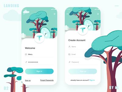 Landing page app ux ui