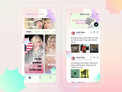 Entertainment News ux app ui