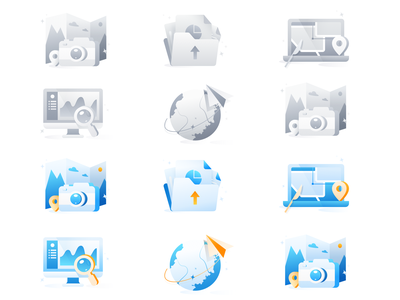 a set of icons