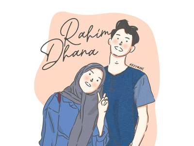 Rahim & Dhana vector design typography illustration branding logo graphic design ui