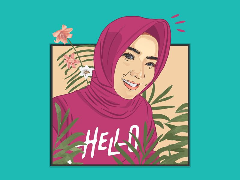 Dirah design typography illustrator vector