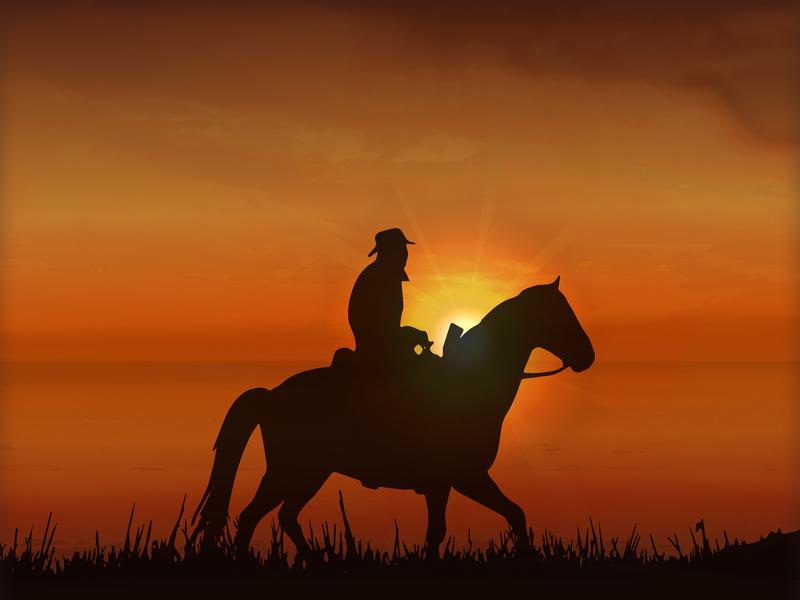 Sunset Horse design bokeh ikona pozadí ilustrace vektor abstraktní pozadí
