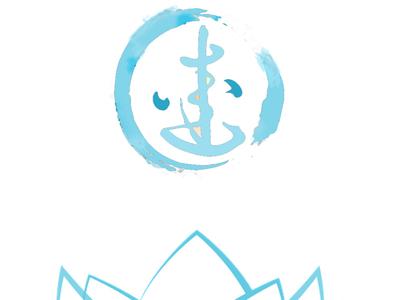 Watercoloured logo blue logo design symbol ink drawing water colour ink illustration