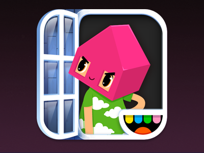Toca House Icon app icon character illustration vector game tocaboca toca boca kids ios ipad iphone