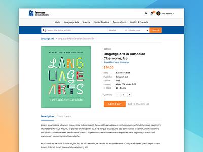 Bookstore website book shop web design ux ui project in progress flat design creative clean light