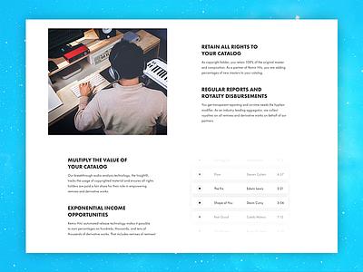Become a partner web ux ui project music partner flat design creative clean blue