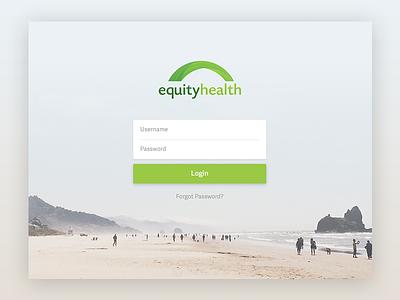 Log in app web ux ui project log in health flat design creative clean