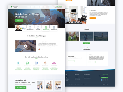 Mortgage Company web design ux ui project in progress home design creative loan mortgage