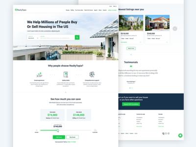 Real Estate Agency green real estate creative design home in progress project ui ux web design